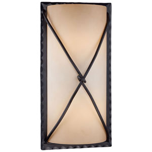 Norwood Bronze Two-Light Fluorescent Outdoor Wall Sconce