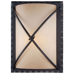 Norwood Bronze One-Light Fluorescent Outdoor Wall Sconce