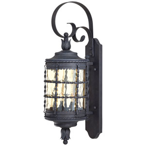 Kingswood Iron Two-Light Outdoor Lantern Wall Sconce