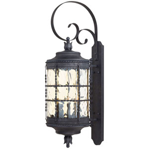 Kingswood Iron and Textured Black Five-Light Outdoor Wall Sconce