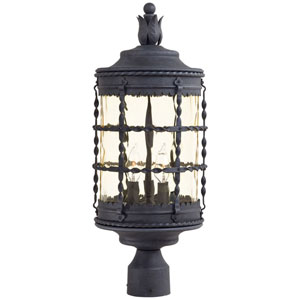 Kingswood Iron Three-Light Outdoor Post Mount