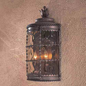 Kingswood Rust Two-Light Outdoor Wall Sconce