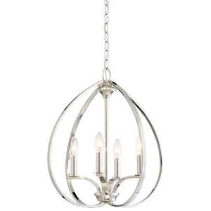 SilverSpring Polished Nickel Four-Light Pendant