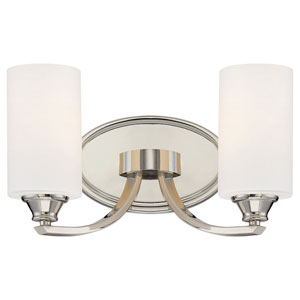 SilverSpring Polished Nickel Two-Light Bath Vanity