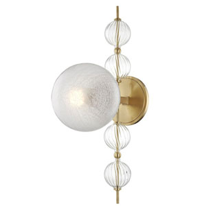 Aveline Aged Brass One-Light Wall Sconce