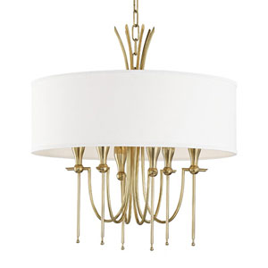 Browning Aged Brass Six-Light Chandelier