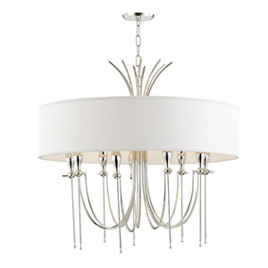 Browning Polished Nickel Nine-Light Chandelier