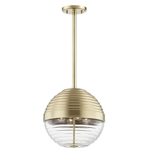 Canning Aged Brass Four-Light Pendant