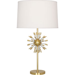 Alexis Brass and Clear Acrylic One-Light Table Lamp