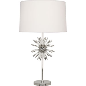 Alexis Polished Nickel and Clear Acrylic One-Light Table Lamp