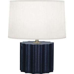 Donatella Polished Brass and Navy One-Light Table Lamp