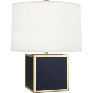 Donatella Polished Brass and Navy 20-Inch One-Light Table Lamp