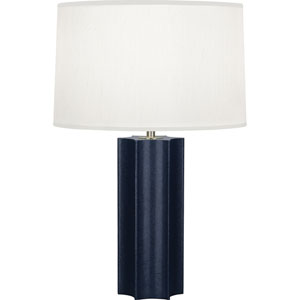 Donatella Polished Brass and Navy 26-Inch One-Light Table Lamp