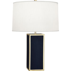 Donatella Polished Brass and Navy 29-Inch One-Light Table Lamp