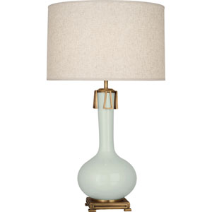 Wilson Celadon and Aged Brass One-Light Table Lamp