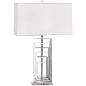 Riley Polished Nickel and Clear Acrylic One-Light Table Lamp