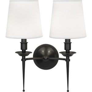 Oxford Deep Patina Bronze Two-Light Wall Sconce