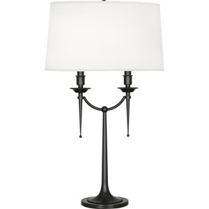 Oxford Deep Patina Bronze Two-Light Table Lamp