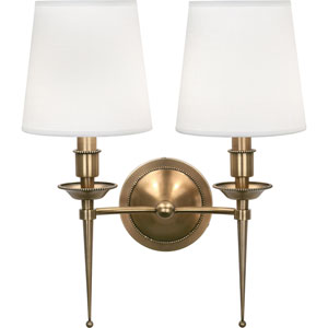 Oxford Brass Two-Light Wall Sconce