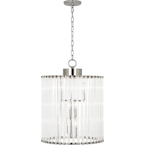 Manor Polished Nickel Six-Light Chandelier