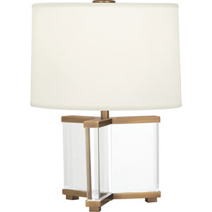 Avon Clear Crystal and Aged Brass 16-Inch One-Light Table Lamp