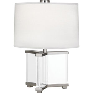 Avon Clear Crystal and Polished Nickel 16-Inch One-Light Table Lamp