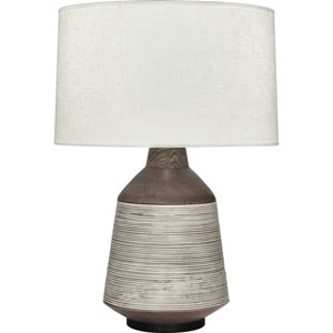 Ranger Walnut Wood and Patina Bronze One-Light Table Lamp