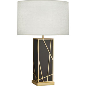 Jamison Deep Patina Bronze and Brass 30-Inch One-Light Table Lamp