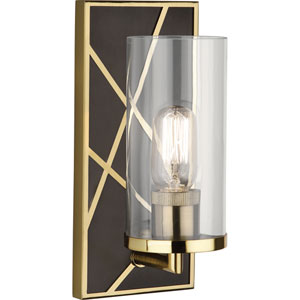 Jamison Deep Patina Bronze and Brass One-Light Wall Sconce