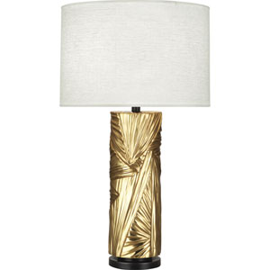 Norris Modern Brass and Deep Patina Bronze One-Light Table Lamp
