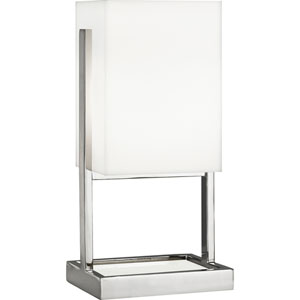 Guildford Polished Nickel and White Marble 13-Inch One-Light Table Lamp