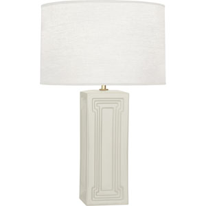 Hatton White and Brass One-Light Table Lamp