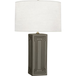 Hatton Gray and Brass 30-Inch One-Light Table Lamp
