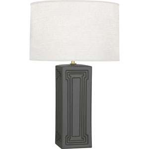 Hatton Black and Brass 30-Inch One-Light Table Lamp