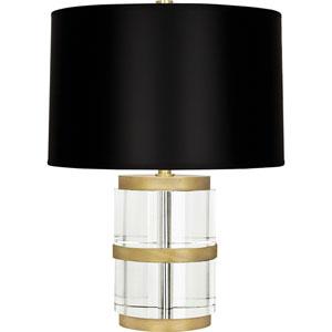 Shop Grandview Crystal Table Lamp Black Shade Bellacor