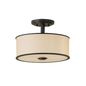 Addington Bronze 13-Inch Two-Light Semi-Flush