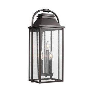 Buchanan Bronze 11-Inch Three-Light Outdoor Wall Lantern