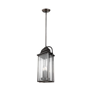 Buchanan Bronze Three-Light Outdoor Pendant Lantern