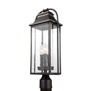 Buchanan Bronze Three-Light Outdoor Post Lantern