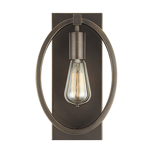 Cardiff Bronze One-Light Wall Sconce
