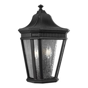 Castle Black 10-Inch Two-Light Outdoor Wall Lantern