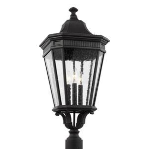 Castle Black 12-Inch Three-Light Outdoor Post Lantern