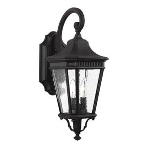 Castle Black 9-Inch Two-Light Outdoor Wall Lantern