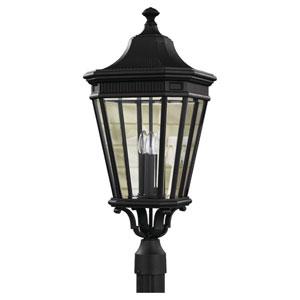 Castle Black Outdoor 12-Inch Three-Light Post Light