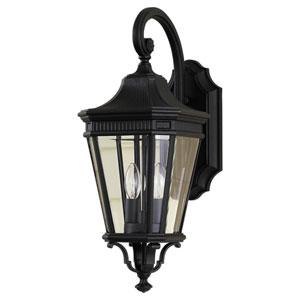 Castle Black Outdoor Nine-Inch Two-Light Wall Lantern