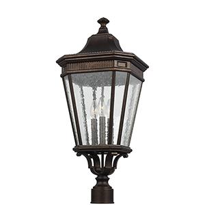 Castle Bronze 12-Inch Three-Light Pier Lantern