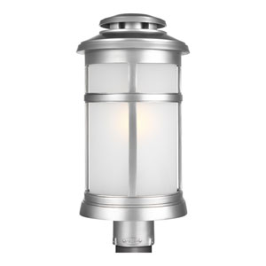 Chelmsford Painted Brushed Steel 9-Inch One-Light Outdoor Post Lantern