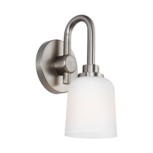 Clydesdale Satin Nickel One-Light Wall Bath Fixture