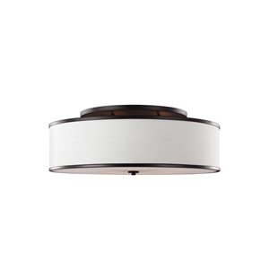Cumbria Bronze Five-Light Semi-Flush Mount