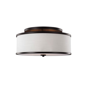 Cumbria Bronze Three-Light Semi-Flush Mount